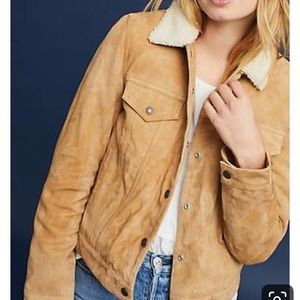 Levi's brown suede Sherpa jacket